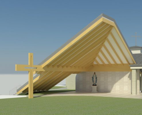 Church design by Paul Ziukelis Architects Gold Coast