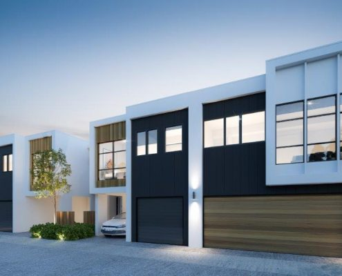 Duplex design by Paul Ziukelis Architects Gold Coast